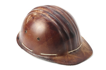 old-fashioned mountaineer's helmet
