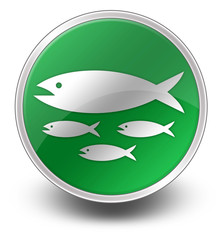 "Glossy Green Icon ""Fish Hatchery"""