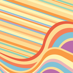 Abstract background with multicolored waves