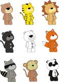 animal plush cartoon set pack poster