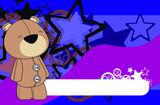 teddy bear plush cartoon background poster