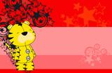 tiger plush cartoon  background poster