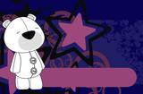 polar bear plush cartoon background poster