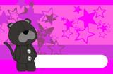 panther plush cartoon background poster