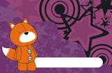 fox plush cartoon background poster