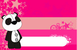 panda bear plush cartoon background poster