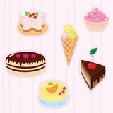 Confection background poster