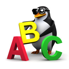 Easy as A B C penguin