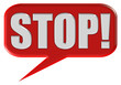 Sprechblase STOP!