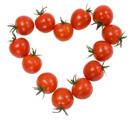tomatoes cherry in the form of the heart