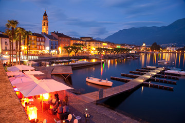 Ascona by night, Ticino Switzerland