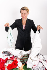 Businesswoman laundering
