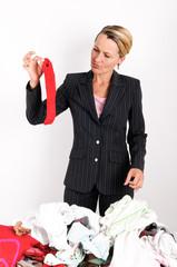 Businesswoman laundering