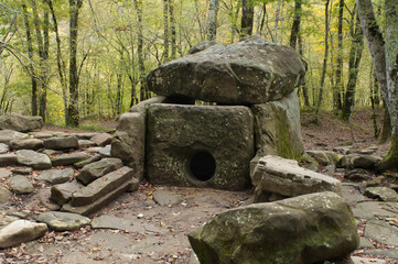 Dolmen near Gelendzhik. The Krasnodar region, Russia
