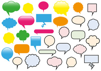 Vector illustration of different text balloons.