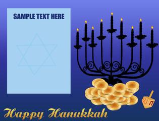 Happy Hanukkah/Chanukah Background