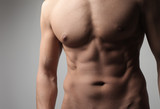Muscular chest poster