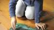 Little boy making puzzle; HD 720, H 264