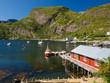 Lofoten fisherman village and harbor