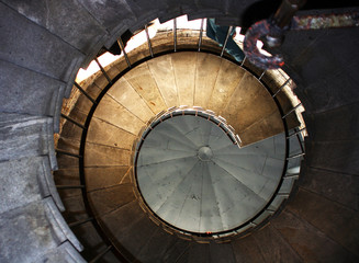 Spiral stair in Isaakiyevsky Cathedral Saint Petersburg