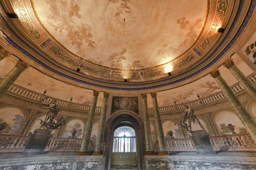 Italy, Sicily, Bagheria, Villa Palagonia, the entrance hall