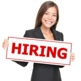 Job woman hiring poster