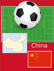 China soccer football sport world flag map