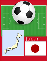 Japan soccer football sport world flag map