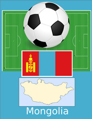 Mongolia soccer football sport world flag map