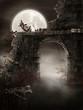 Mroczne ruiny ze szkieletem