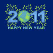 Happy New Year 2011 Green Planet Blue
