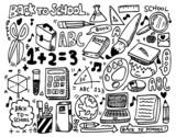 Fototapety doodle school