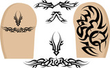 tribal tattoo arm sleeves poster