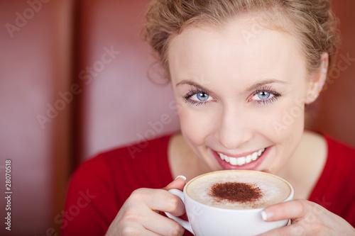 Fototapeten,frau,gesicht,hübsch,kaffee