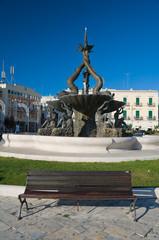 Triton Fountain. Giovinazzo. Apulia.