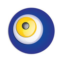 Göz benzeri mavi sarı nazar boncuğu