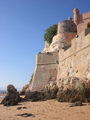 San Joan fortress in the city of Ferragudu, Portugal.
