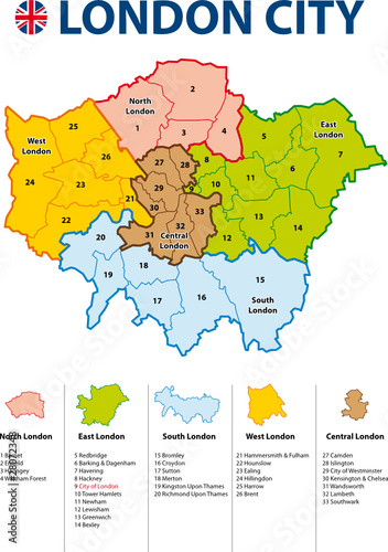 LONDON CITY MAP - Carte de Londres