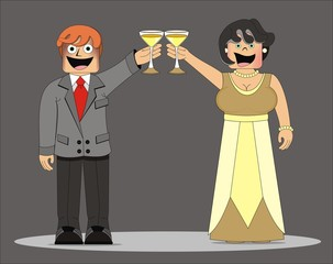 Hombre_mujer fiesta