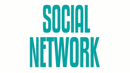 Social Network Word Tag Animation