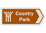 Tourist information series: photo-realistic 'country park' sign