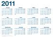 Calendrier 2011 - fêtes vacances jours fériés