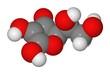 Space-filling model of ascorbic acid molecule