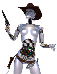 robot cowgirl