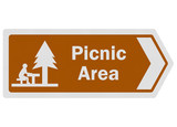 Tourist information series: photo-realistic 'picnic area' sign o
