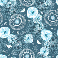 Winter abstract pattern
