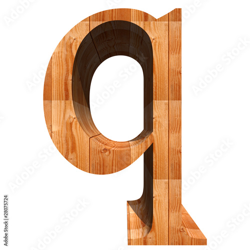 High resolution wood font isolated on white background