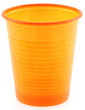 gobelet plastique orange