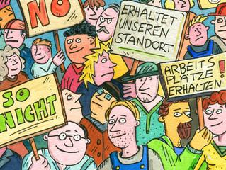 demonstration,gewerkschaft,politik
