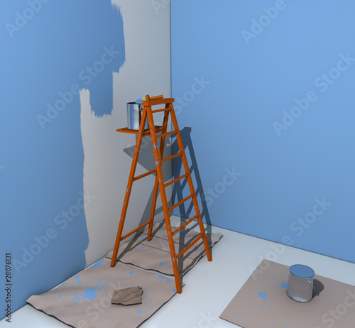 Escalera de pintor fotos de archivo e im genes libres de for Escalera pintor